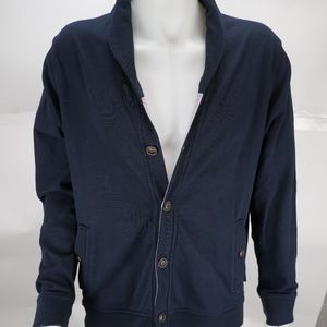 Ted Baker Blue Button Up Cardigan